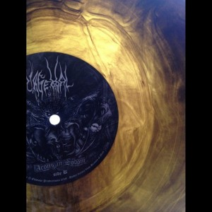 "ONDSKAPT - Grimoire Ordo Devus , 12"" BROWN vinyl , Black Metal Sweden"